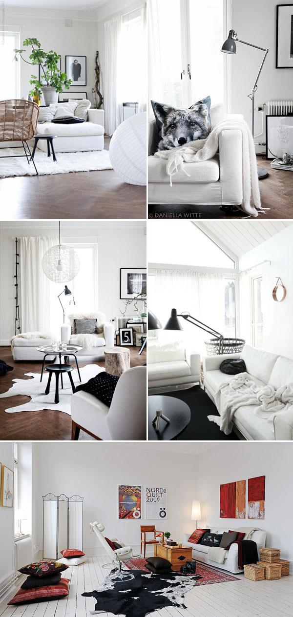 vit inredning sovrum