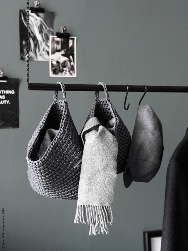 hängande klädstång