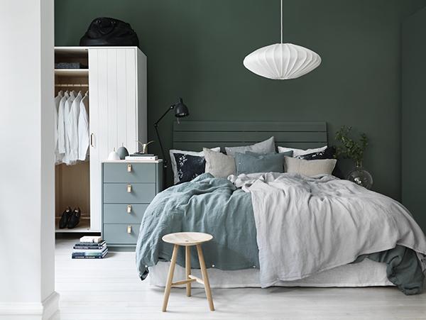 Grönmålare väggar, grönt sovrum, gröna väggar