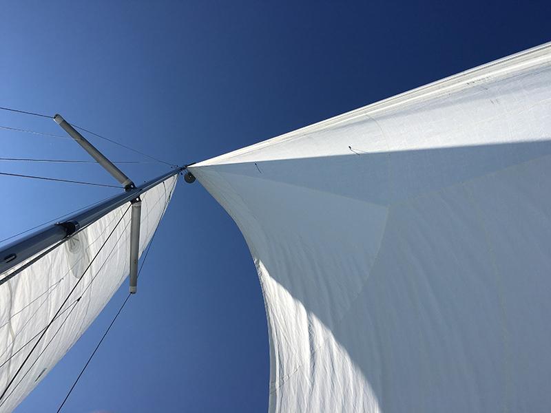 Segelsemester, segel, blå himmel