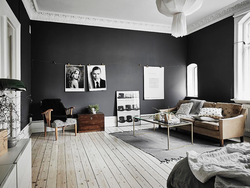 Svarta väggar