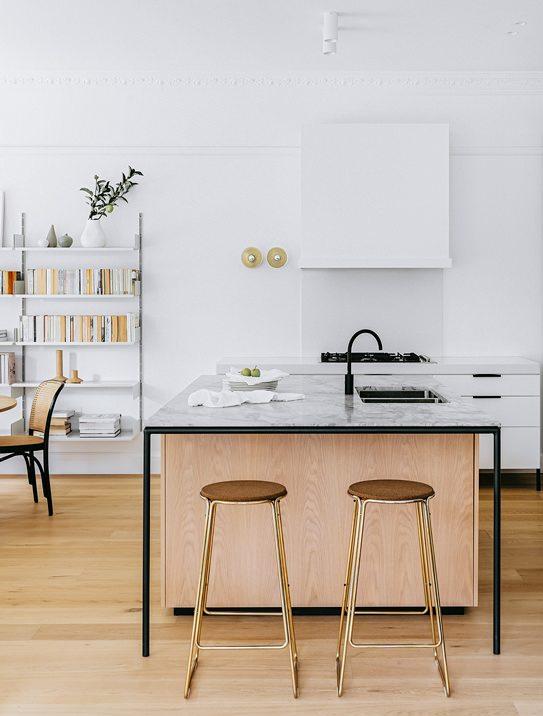 Kök, köksinspiration, köksbänk i marmor